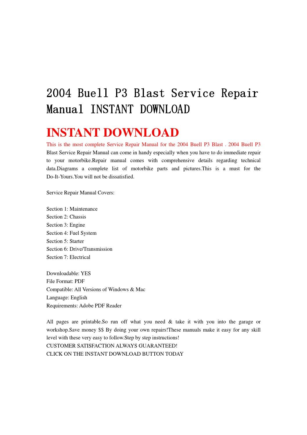 2004 buell p3 blast service repair manual instant download by 8hsjfnshen issuu