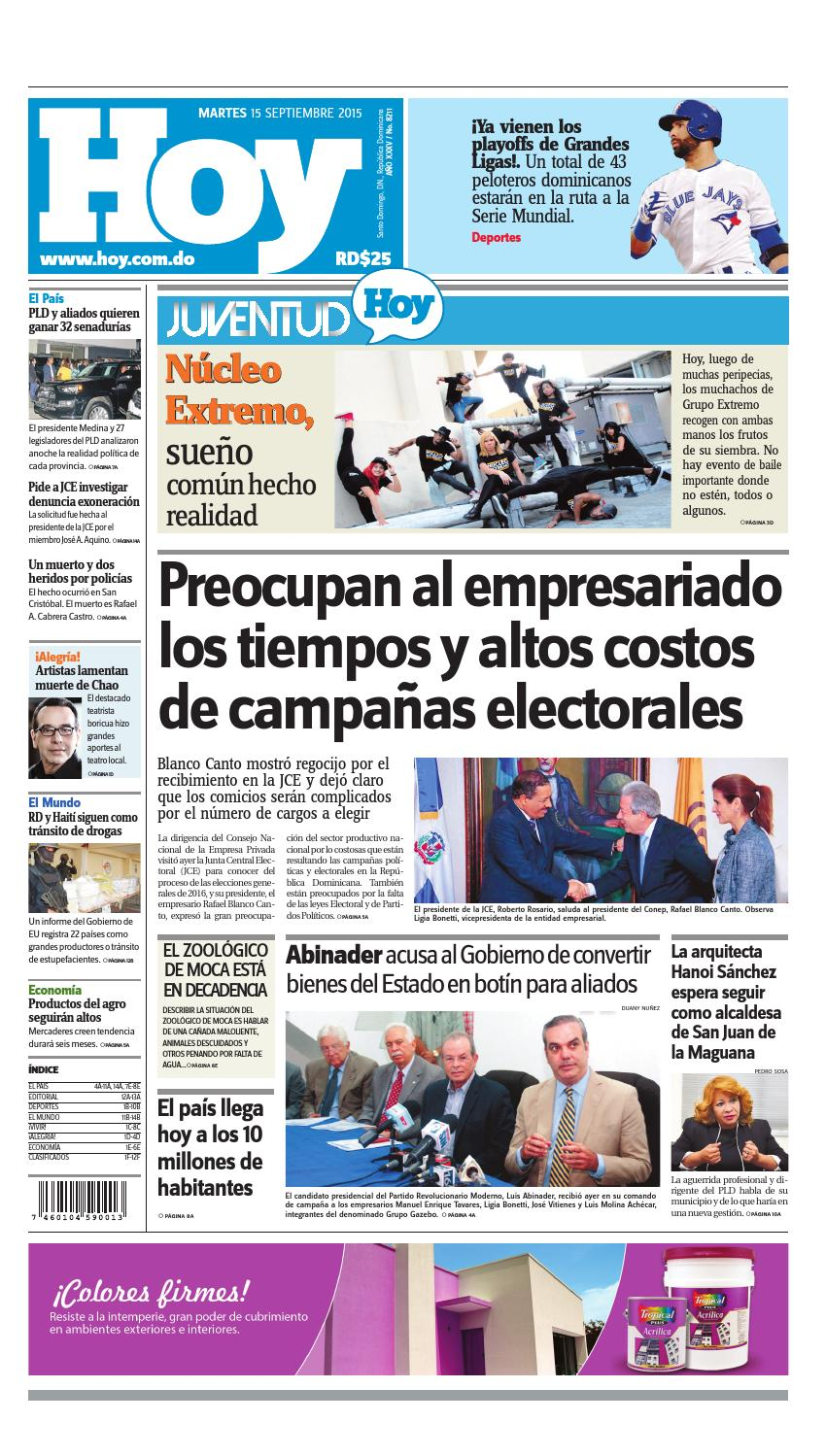 the latest d15a5 eb8d0 Periódico 15 de septiembre, 2015 by Periodico Hoy - issuu