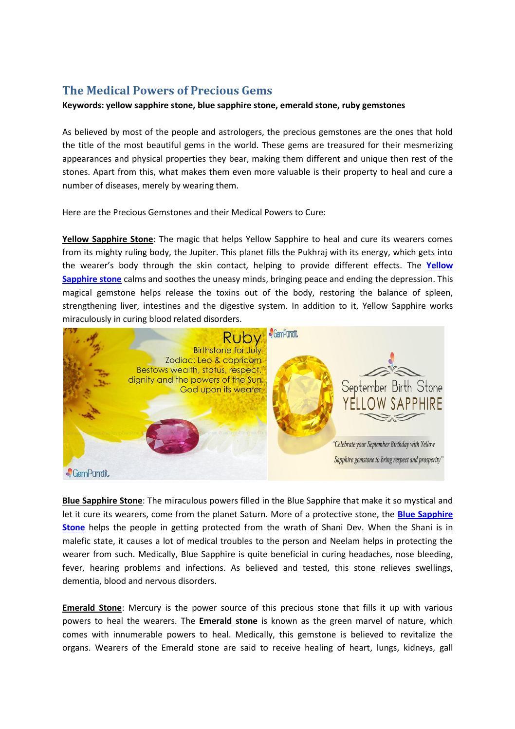The medical powers of precious gems by Avnish Gempundit - issuu