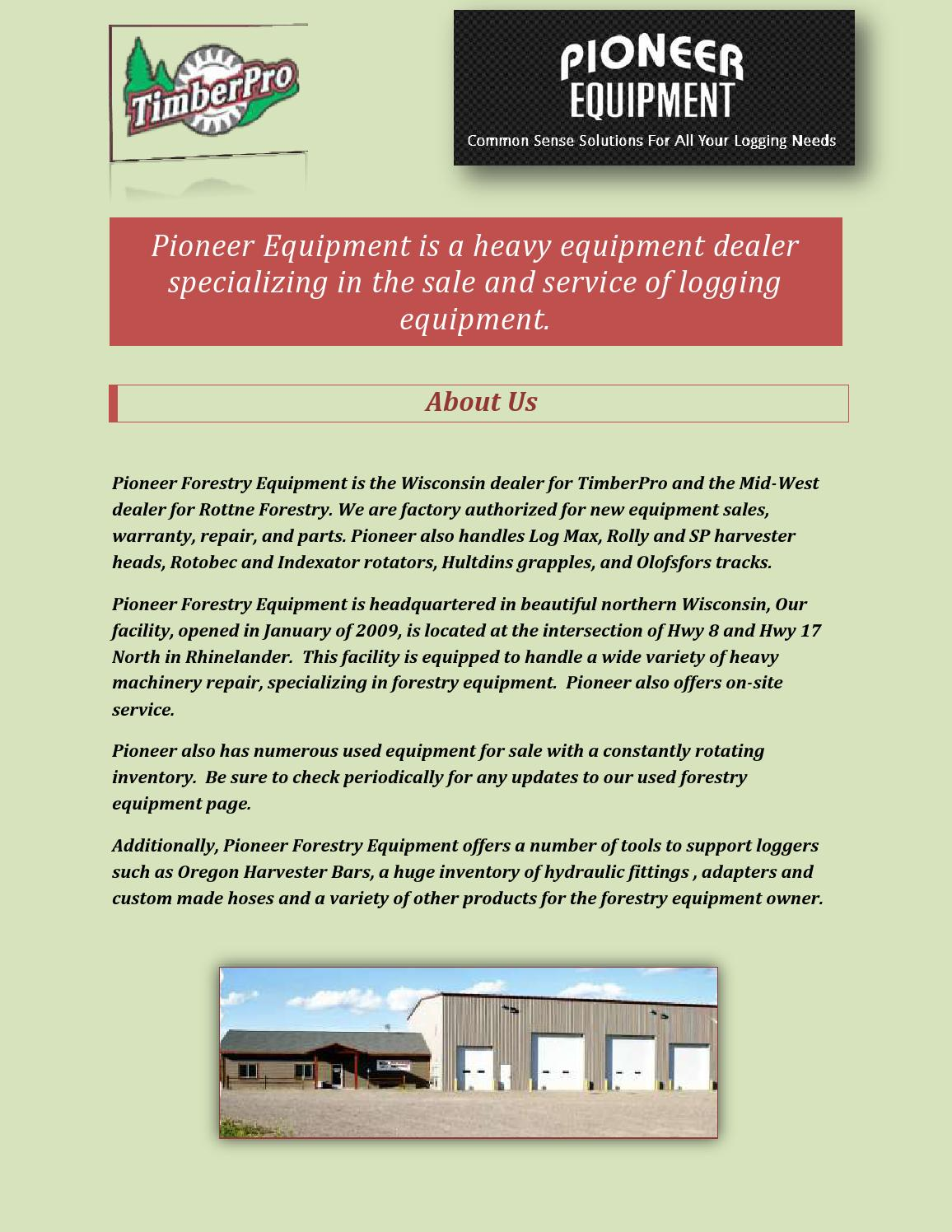Logging forestry equipment by pioneerforestryequipment - issuu