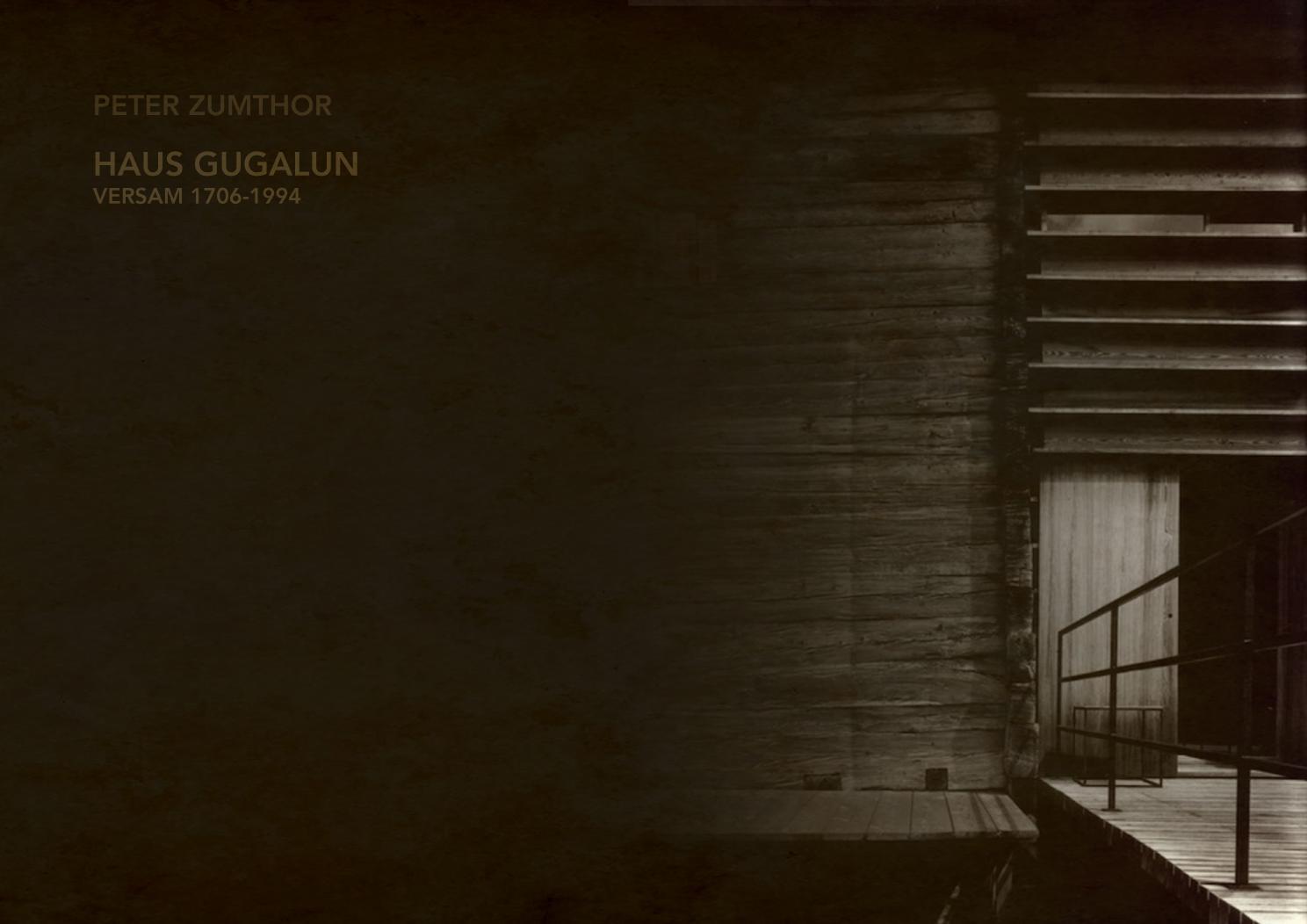 Haus Gugalun Peter Zumthor By Federica Linguanti Issuu