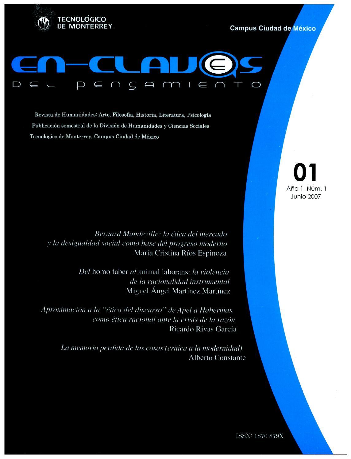 Enclaves del pensamiento. Número 1 by En-Claves del Pensamiento - issuu