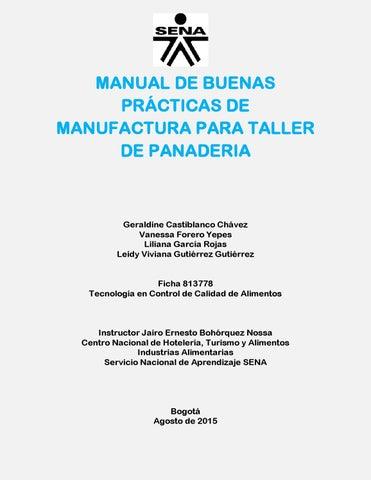 Manual de buenas pr cticas de manufactura para taller de Manual de buenas practicas de manufactura pdf
