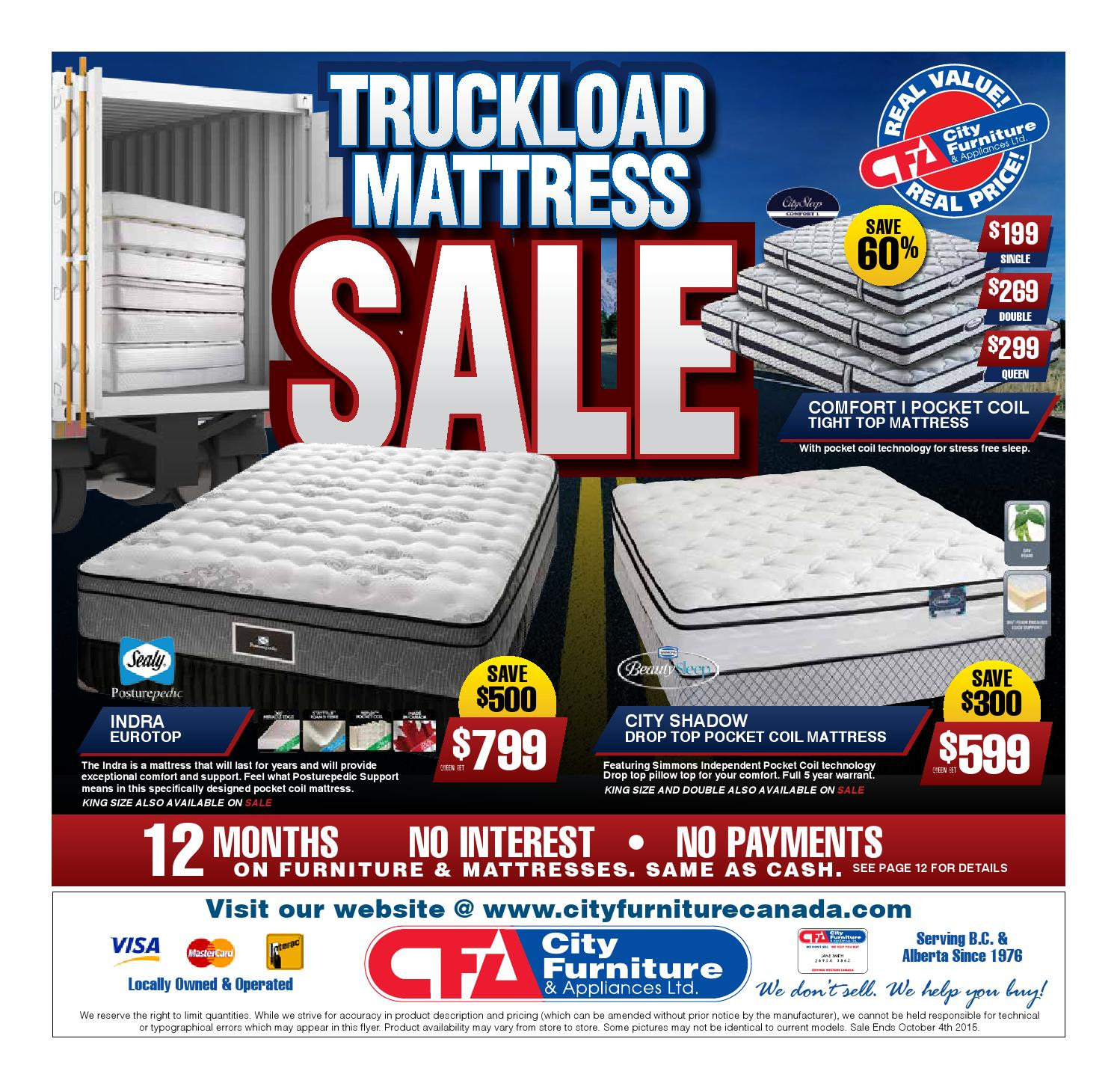 City Furniture Amp Appliances Truck Load Mattress Sale