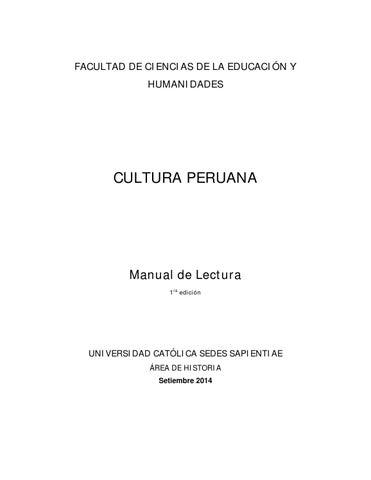 Cultura Peruana By Sprnz Issuu