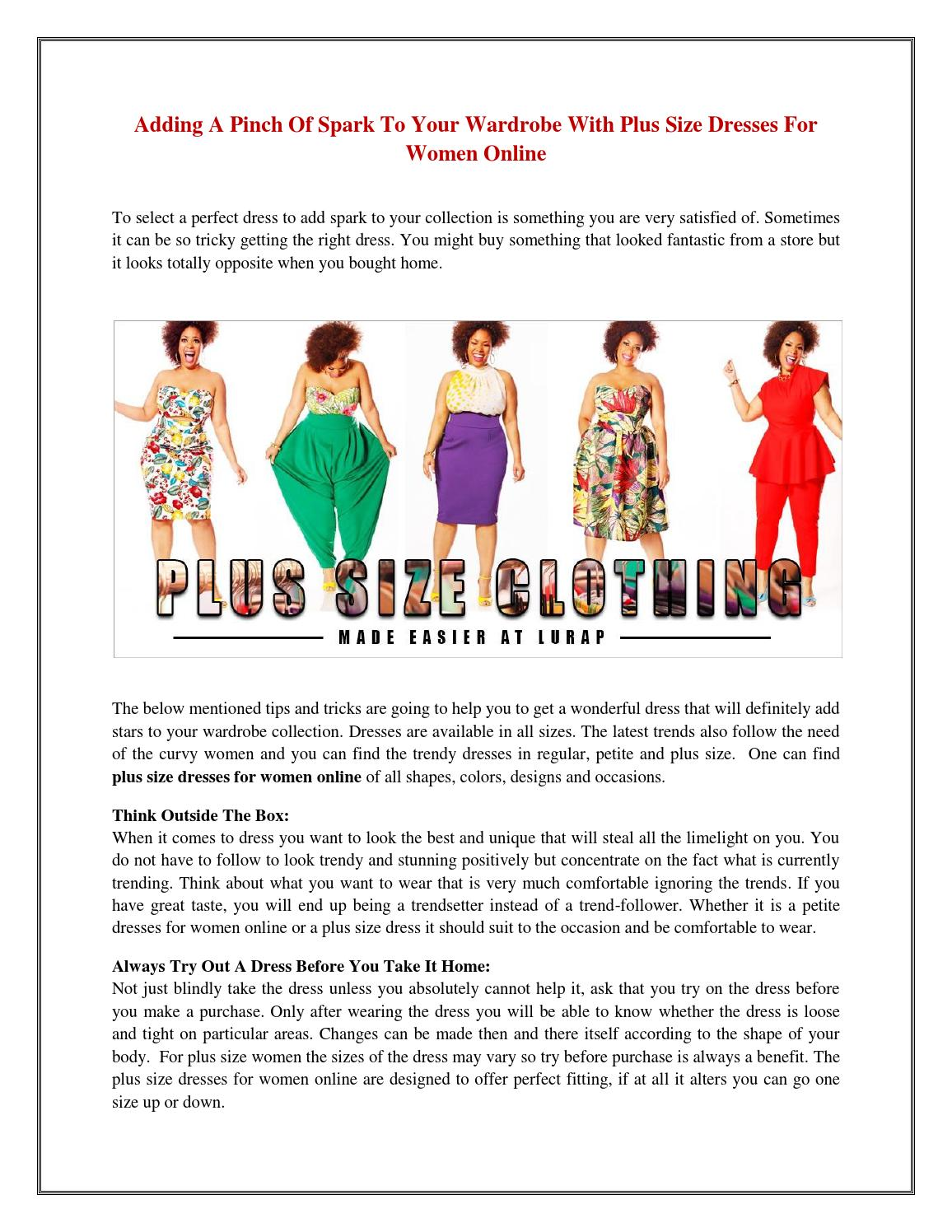 a97e352c7 Adding a pinch of spark to your wardrobe with plus size dresses for women  online by Lurap Fashion - issuu