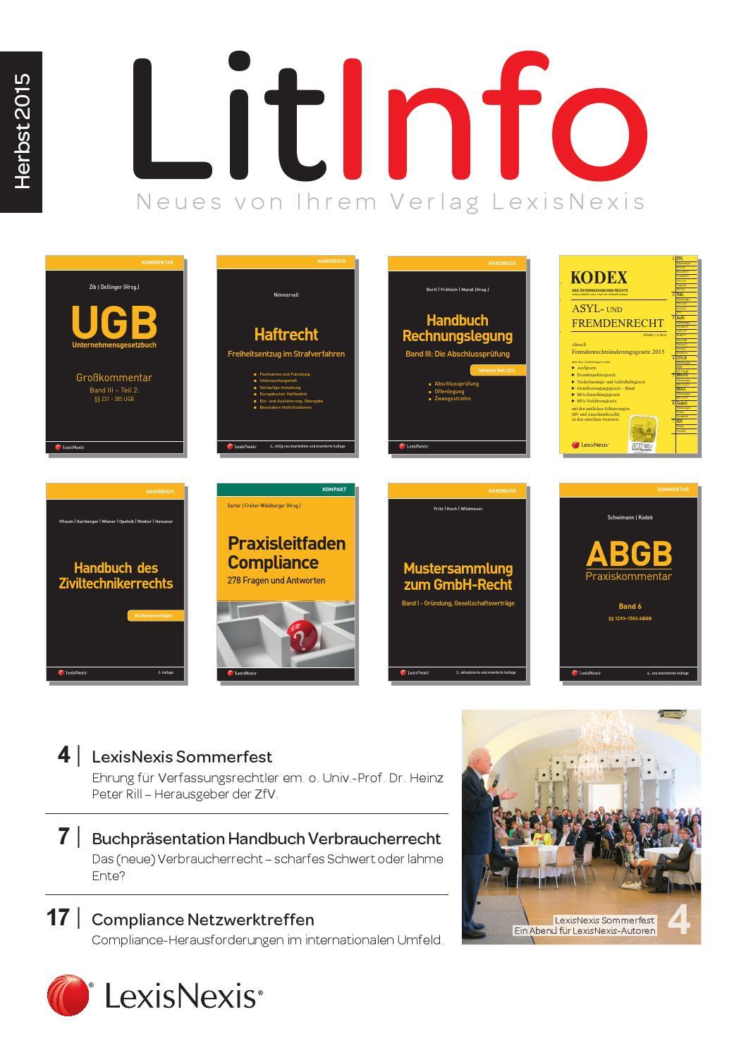LitInfo Herbst 2015 by LexisNexis Österreich - issuu