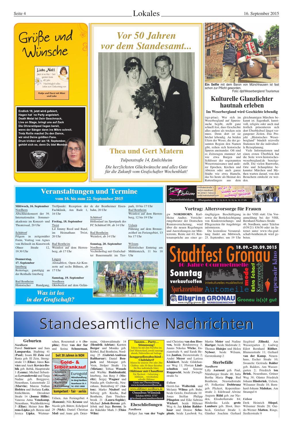 Len Nordhorn grafschafter wochenblatt 16 9 2015 by sonntagszeitung issuu