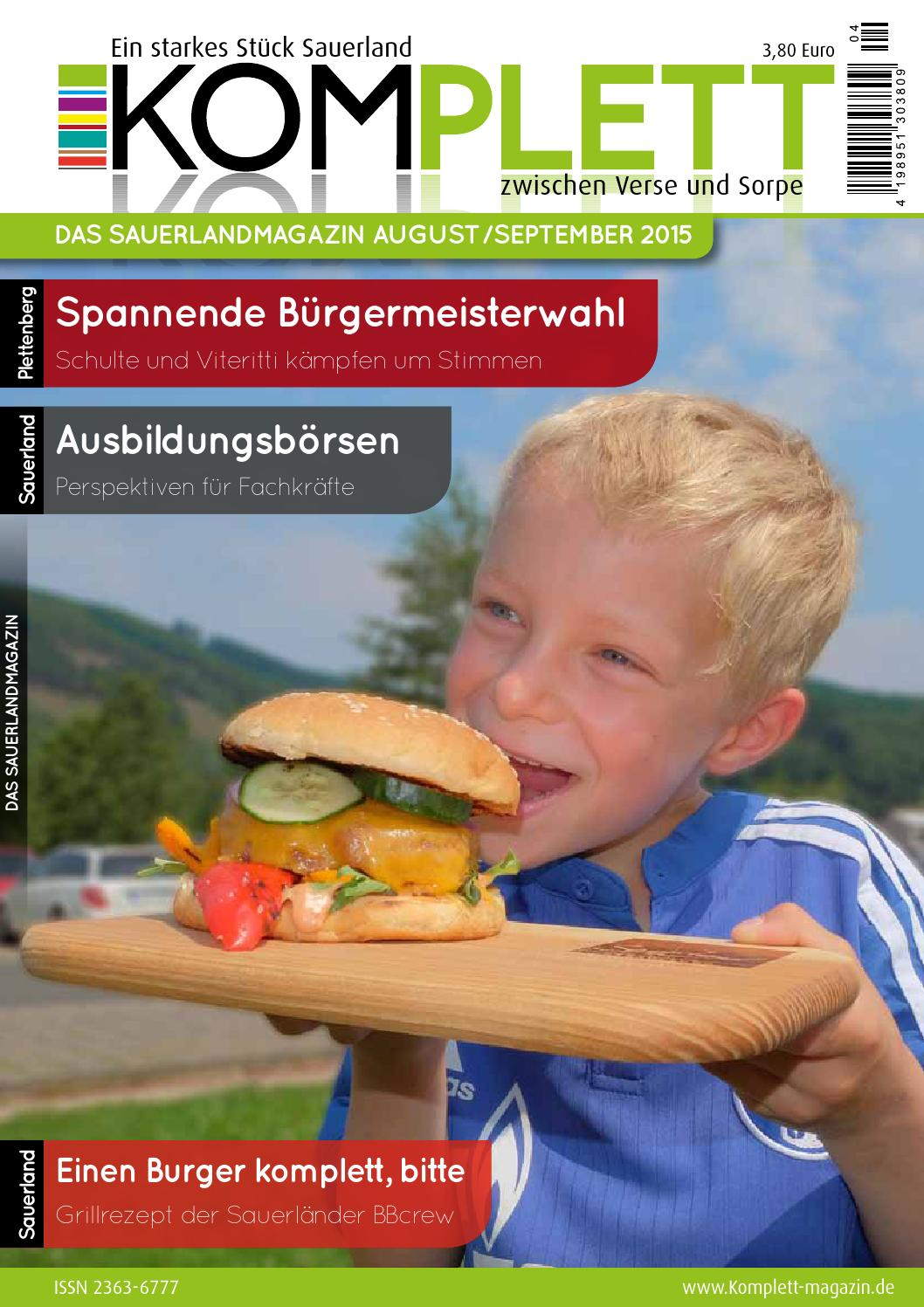 Komplett Das Sauerlandmagazin August/September 2015 by Komplett ...