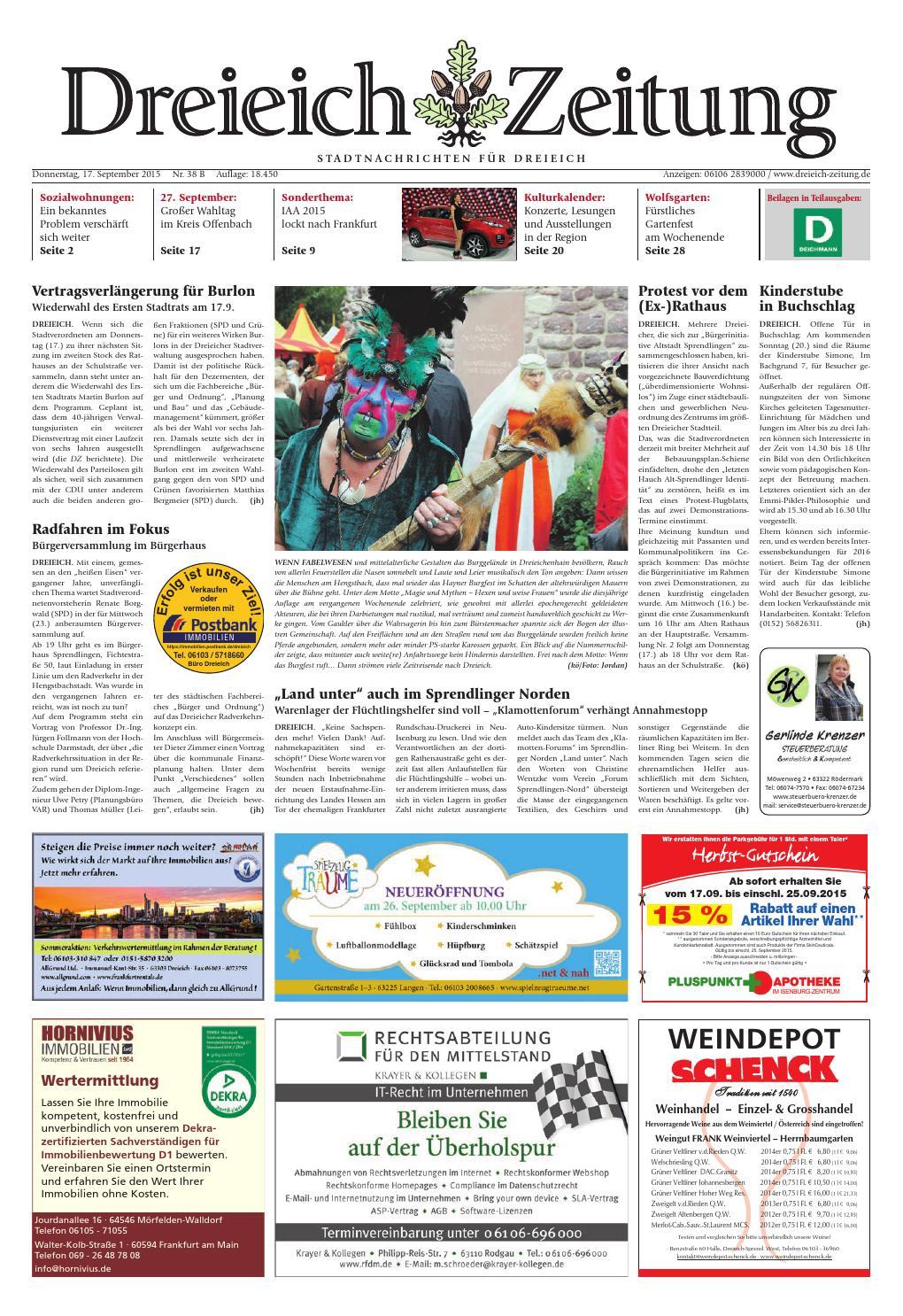 Dz online 038 15 b by Dreieich-Zeitung/Offenbach-Journal - issuu