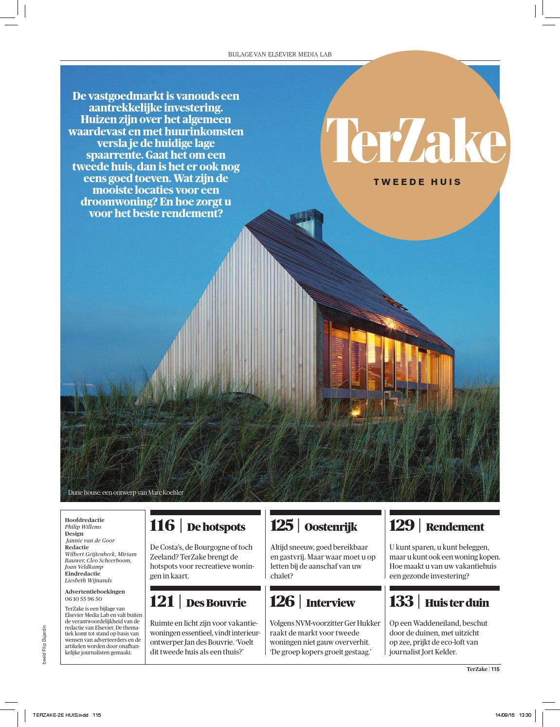 Terzake tweede huis by reed business issuu for Dujardin willems