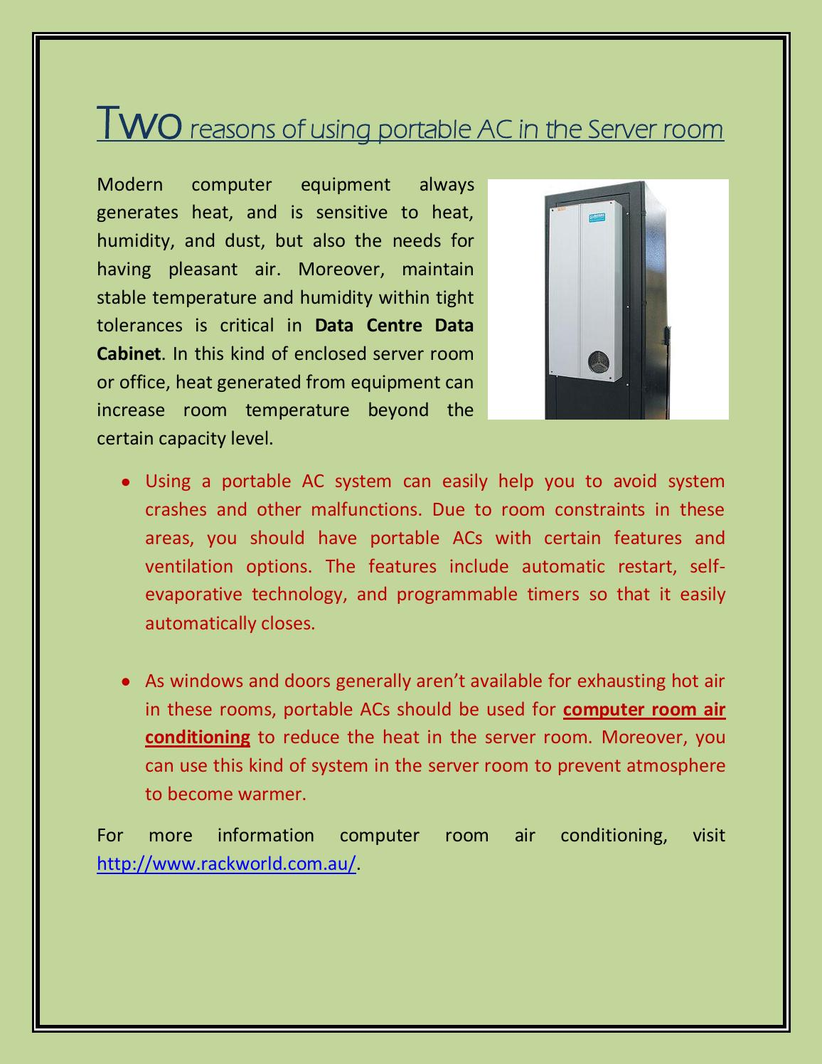Pleasing Two Reasons Of Using Portable Ac In The Server Room By Interior Design Ideas Gentotthenellocom