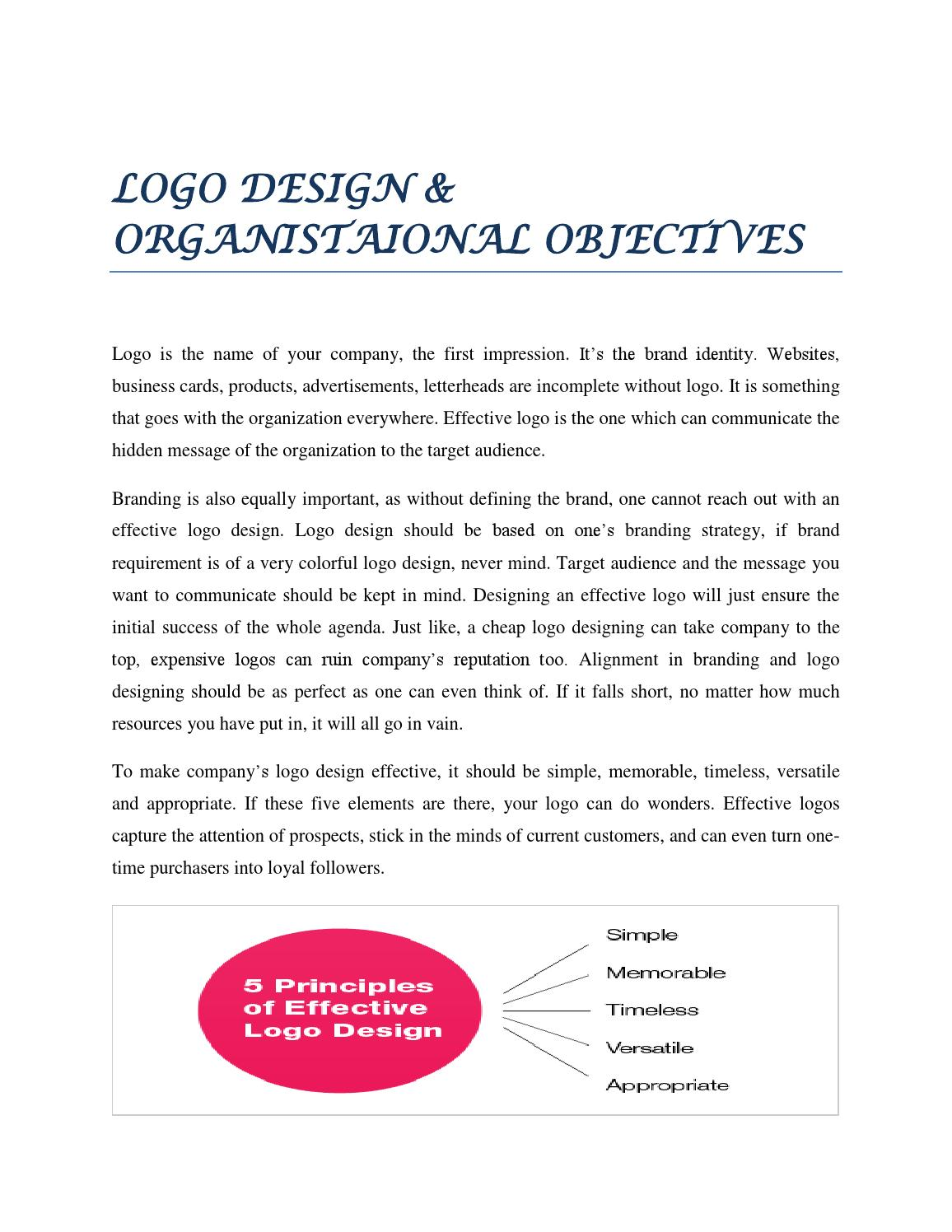 Logo Design Organistaional Objectives By Ryan Hudson Issuu,Repair Concrete Front Steps Design Ideas