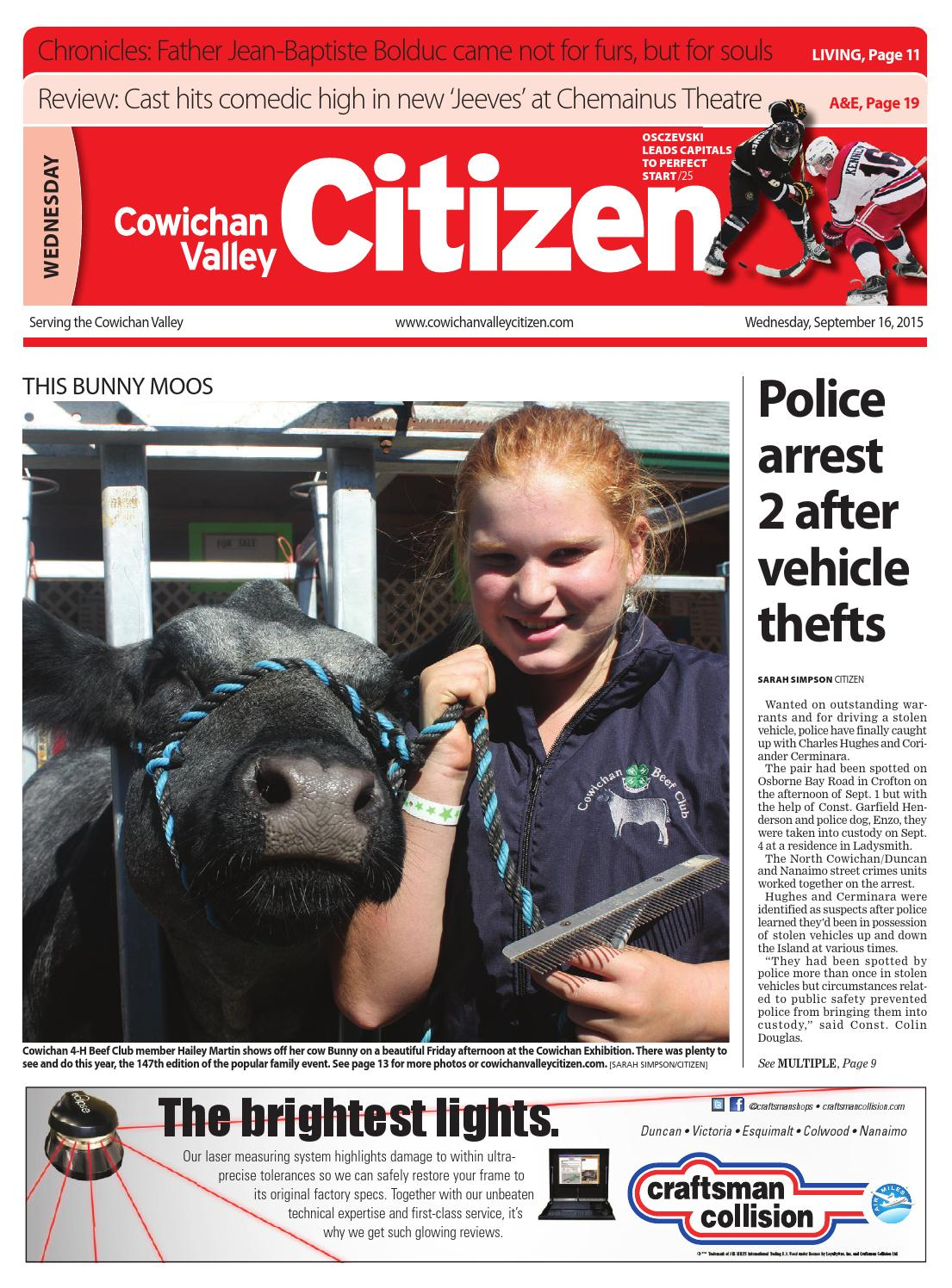 Cowichan Valley Citizen, September 16, 2015 by Black Press - issuu