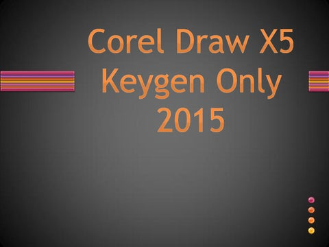 corel draw x5 with keygen free download