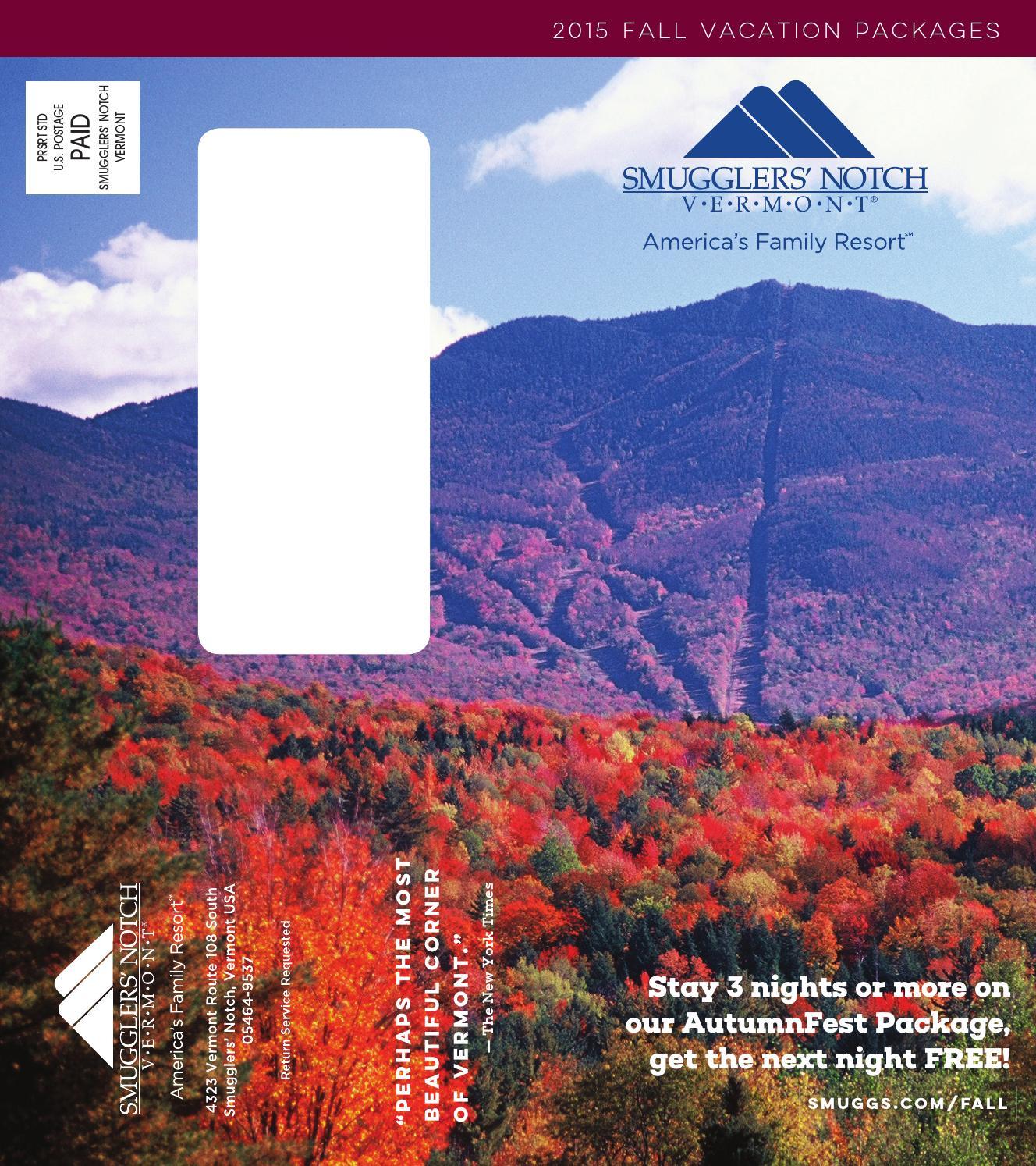 Smugglers' Notch Vermont Fall 2015 By Smugglers' Notch