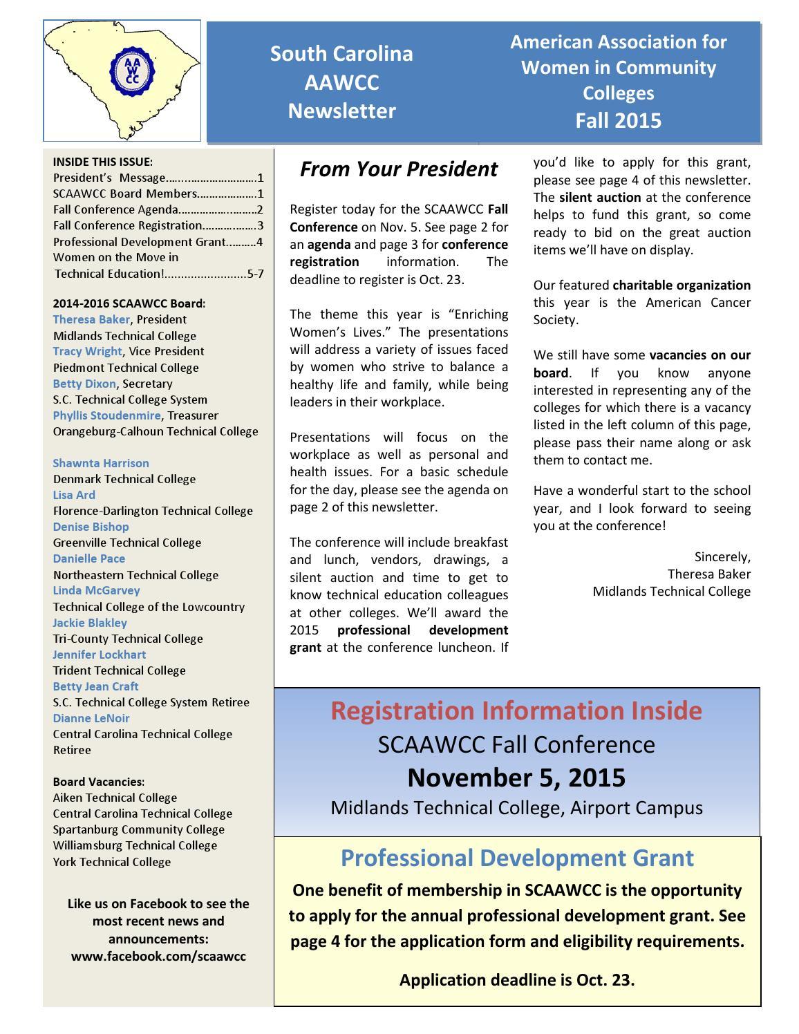 Fall 2015 Scaawcc Newsletter By Scaawcc Issuu
