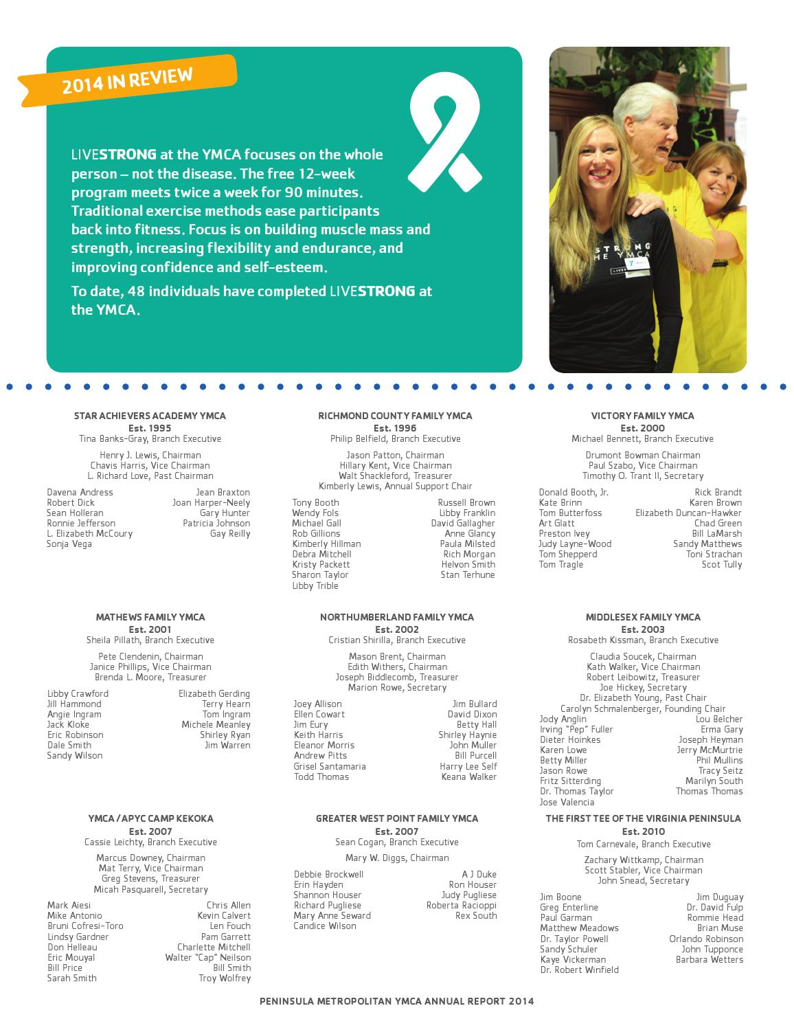 2014 Peninsula YMCA Annual Report by Peninsula Metropolitan