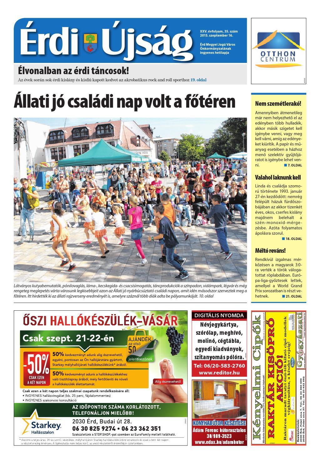 Érdi Újság - 2015. 09. 16. by Maraton Lapcsoport Kft. - issuu e88e89c54d
