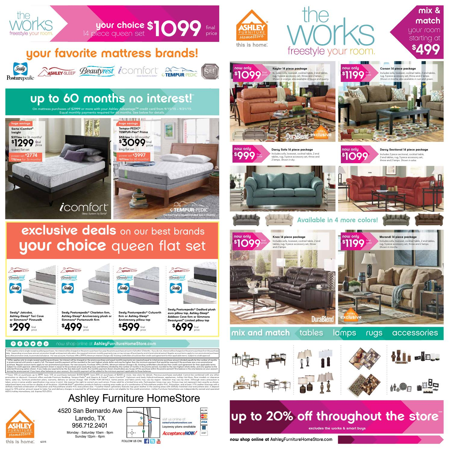 The Works 14 Piece Room Package Event By Ashley Furniture Homestore Of Laredo Issuu