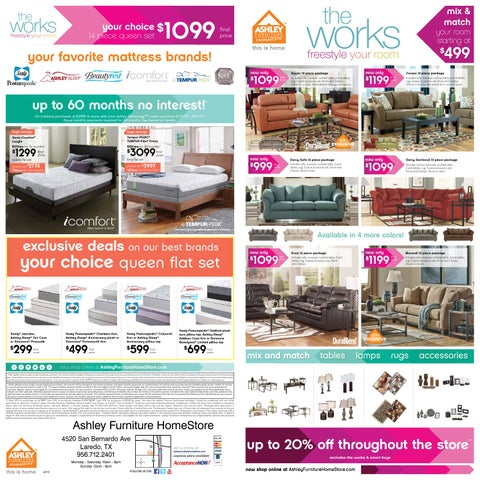 Page 1. The Works 14 Piece Room Package Event by Ashley Furniture
