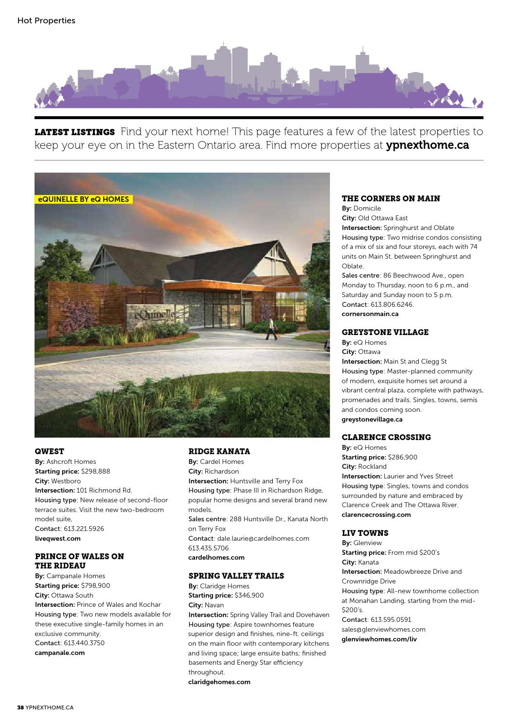 Eastern Ontario New Home & Condo Guide - Sept 19, 2015 by NextHome ...