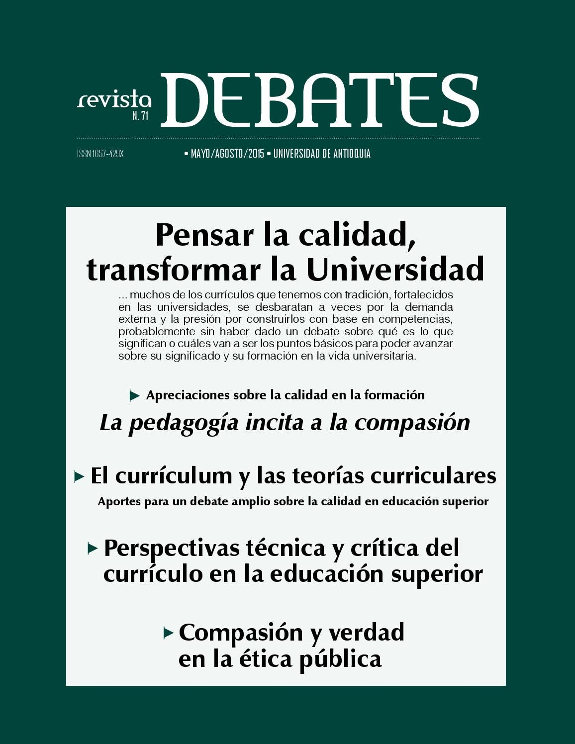 Debates 71 by Universidad de Antioquia - issuu