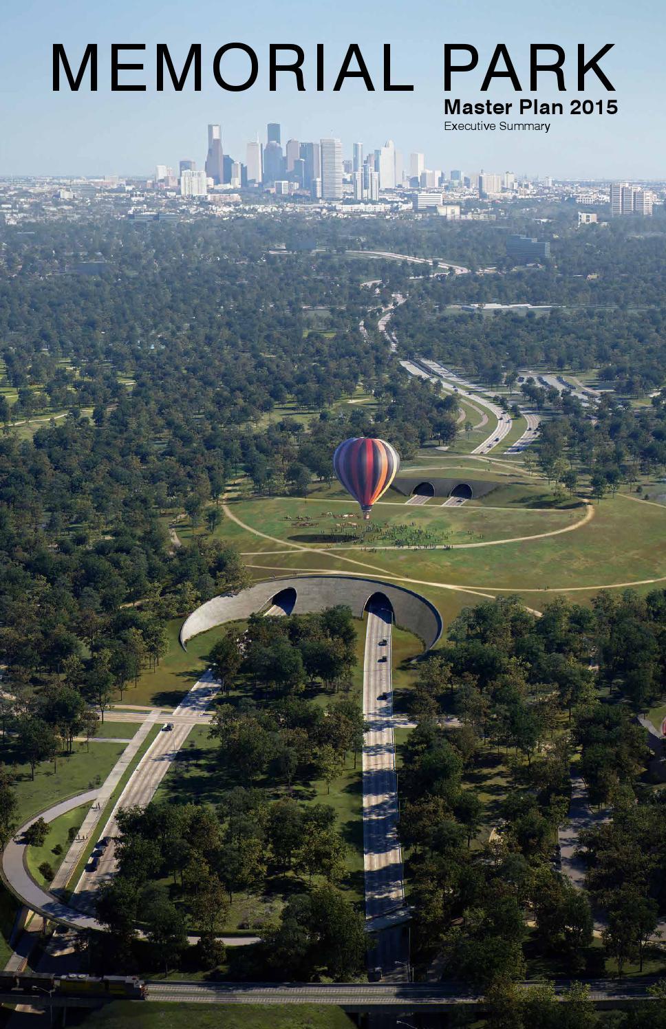 Memorial Park - Master Plan 2015