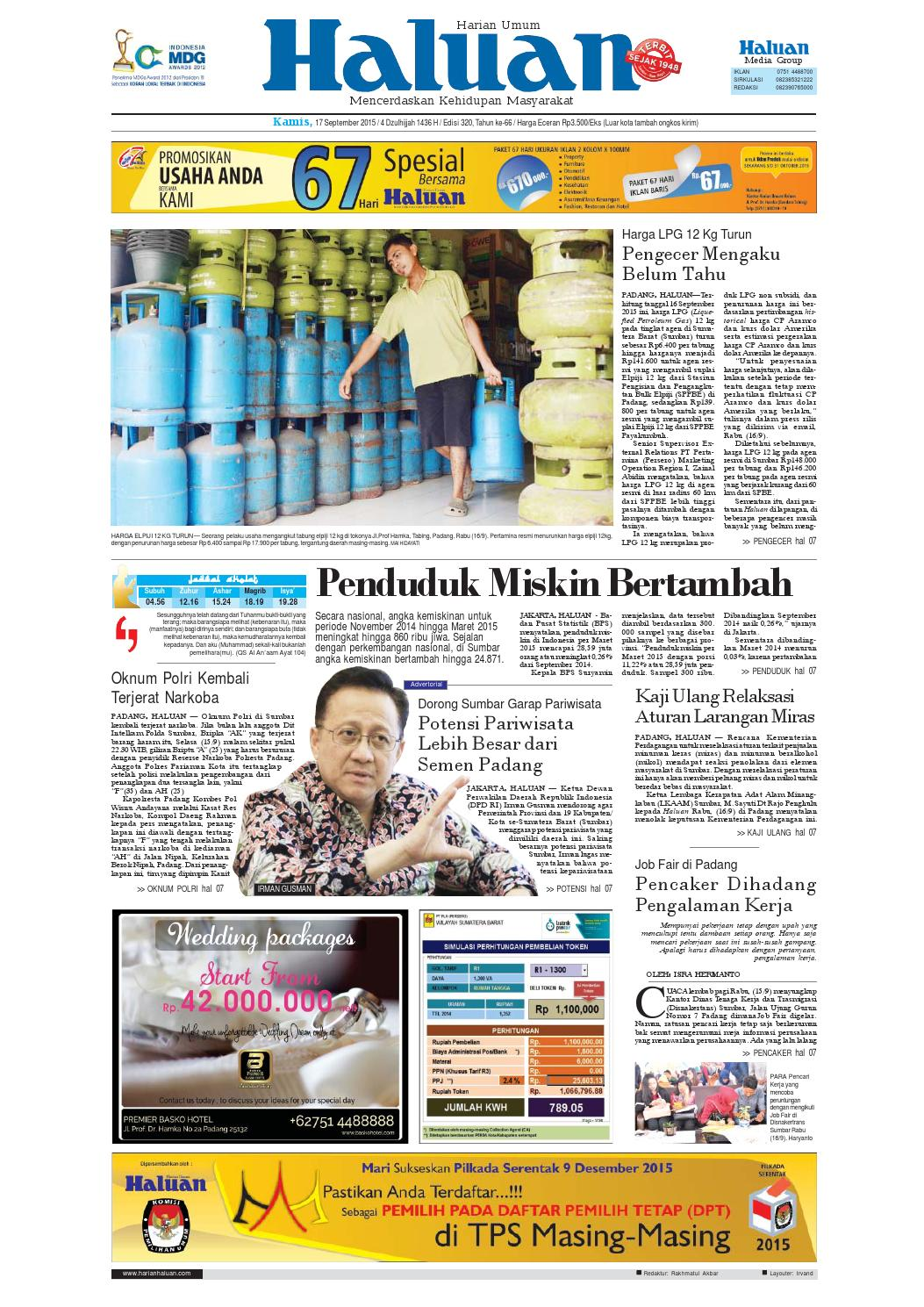 Haluan 17 September 2015 By Harian Issuu Produk Ukm Bumn Snowcake Double Choco