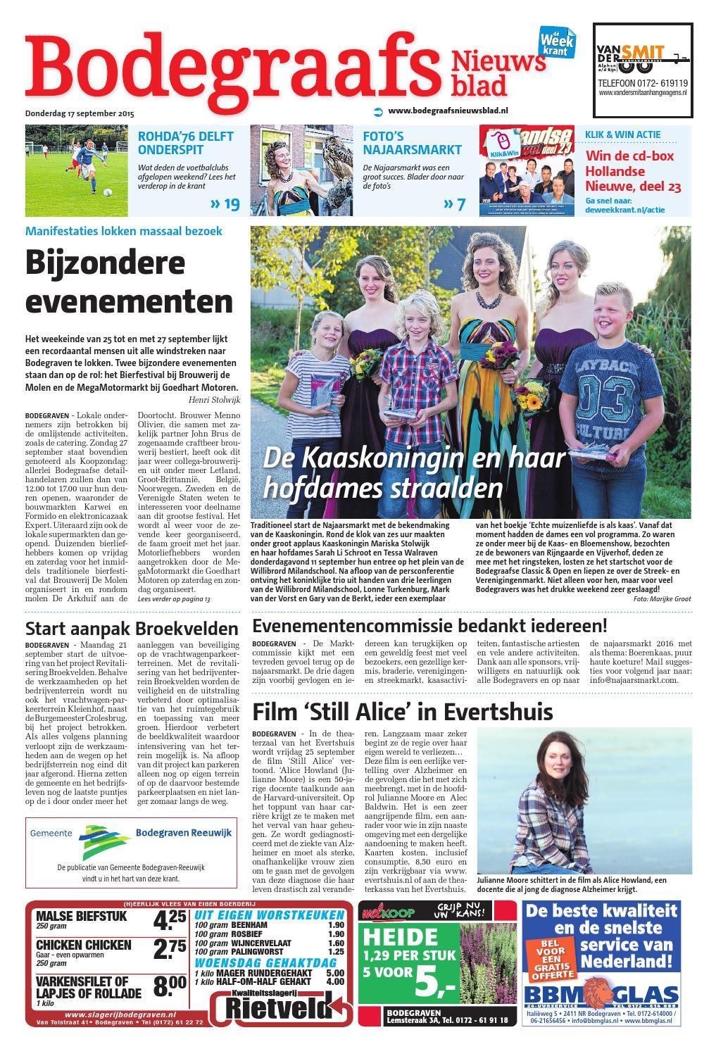 Bodegraafs nieuwsblad week38 by wegener issuu for Goedhart deuren