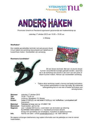 Anders Haken By Vrouwen Van Nu Utrecht Issuu
