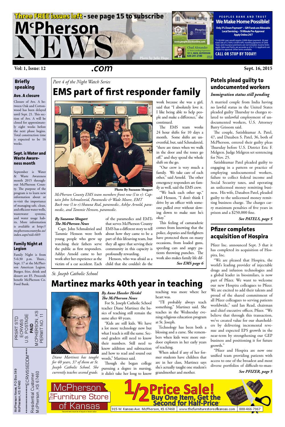 9 16 mcpherson news by Anne Hassler - issuu