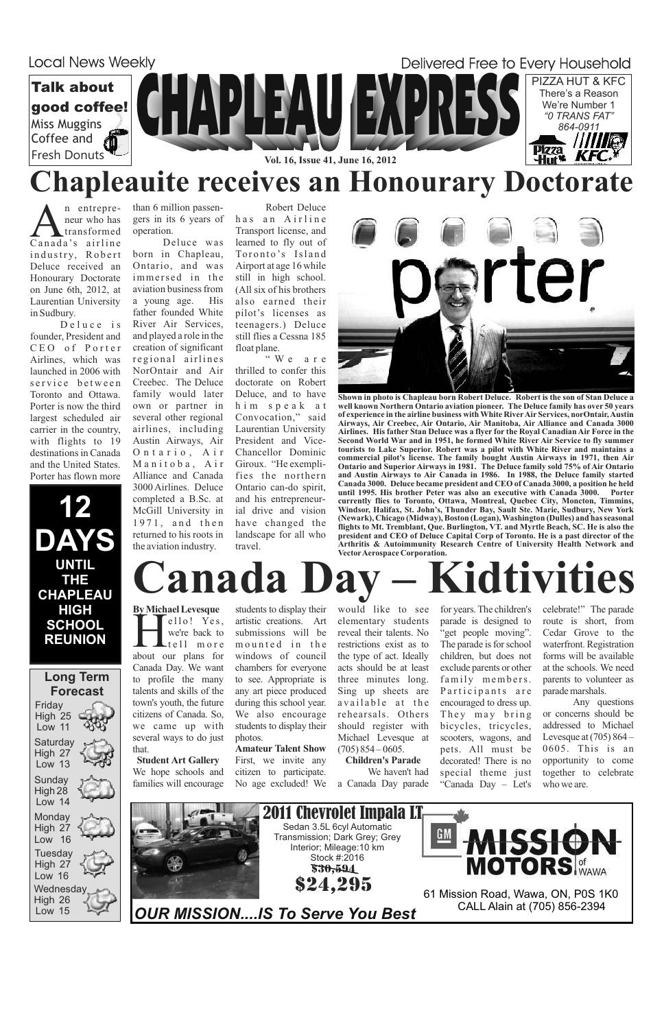 06162012 June 16 2012 By The Chapleau Express Issuu