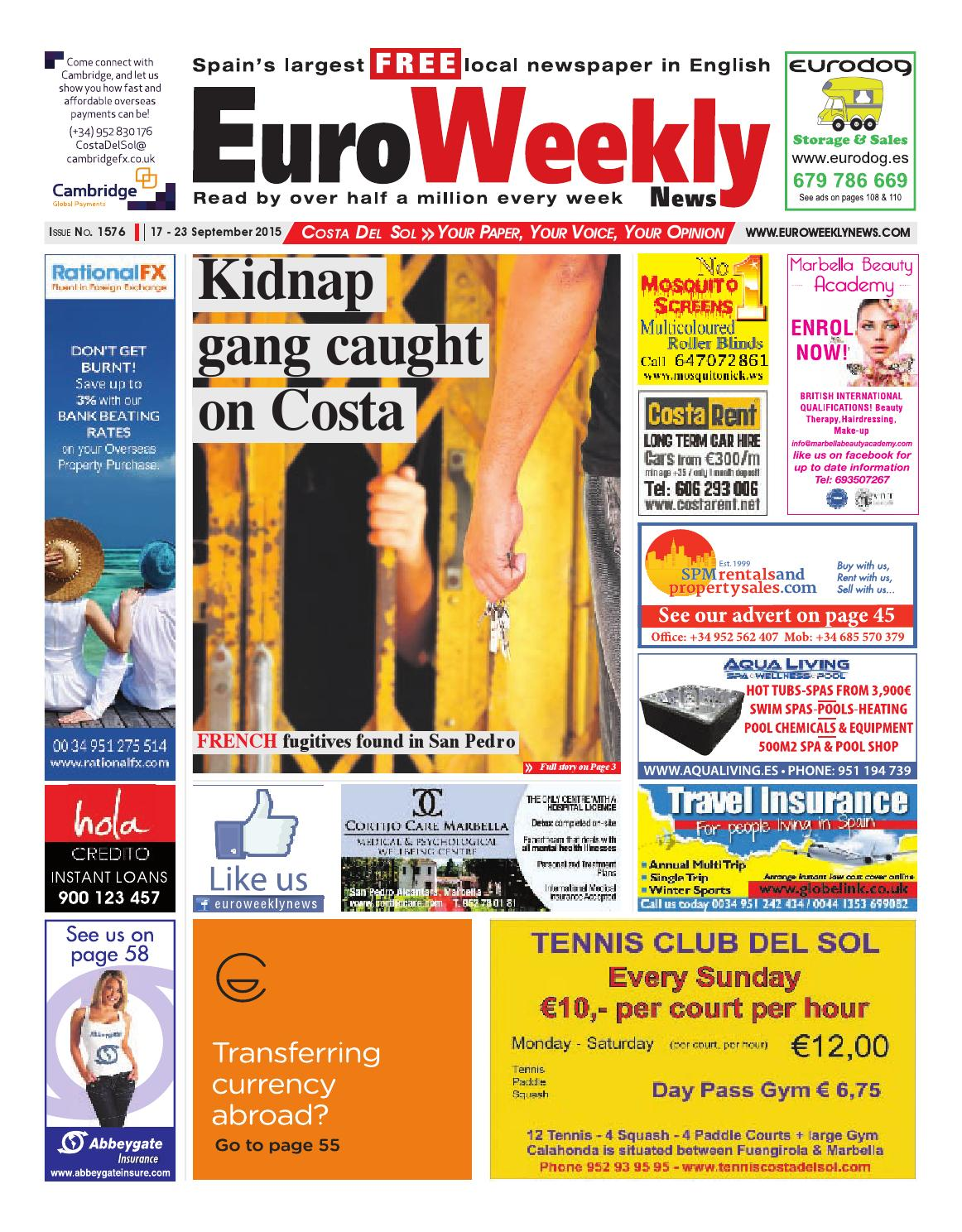 Costa del Sol 17 - 23 September 2015 Issue 1576 by Euro Weekly News Media  S.A. - issuu bdbaad6e5