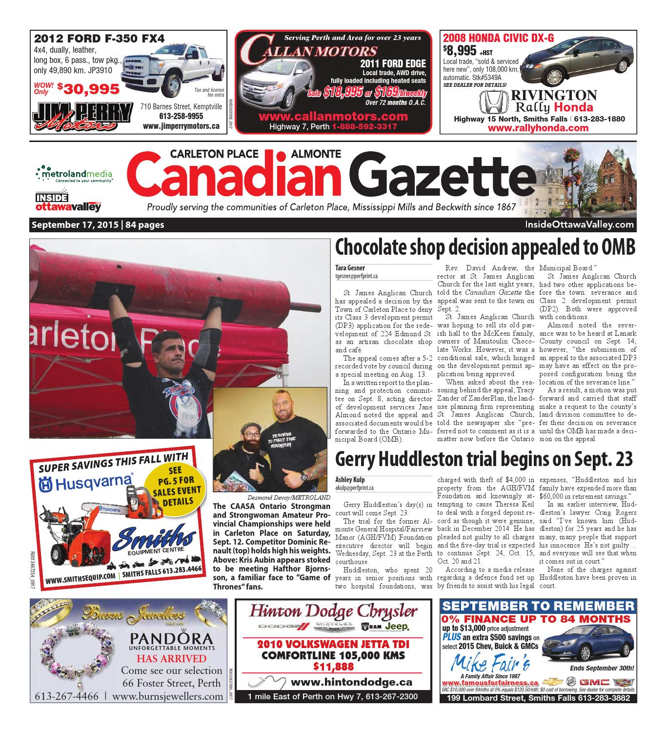 Almontecarletonplace091715 by Metroland East - Almonte Carleton Place  Canadian Gazette - issuu