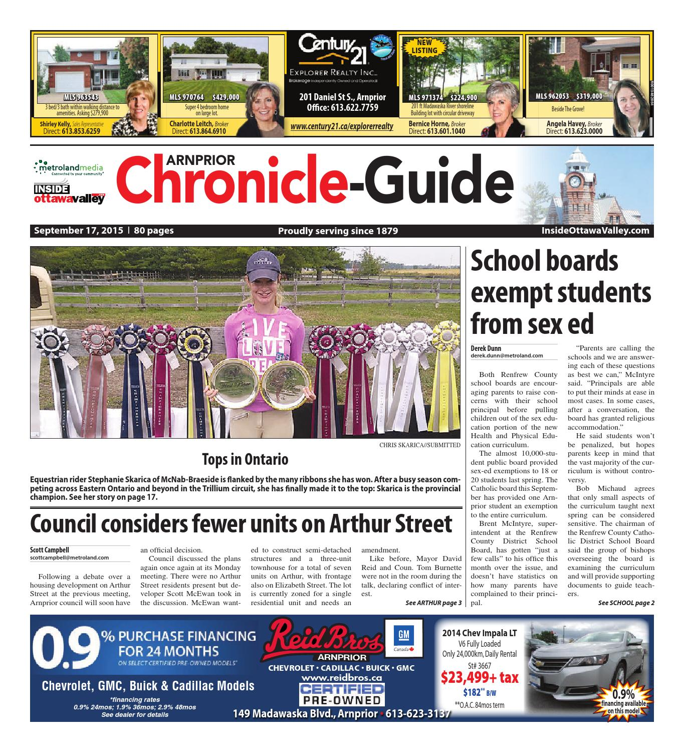 Arnprior091715 by Metroland East - Arnprior Chronicle-Guide - issuu