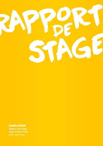 Bien connu Rapport de stage by claudia.allegre - issuu BS01