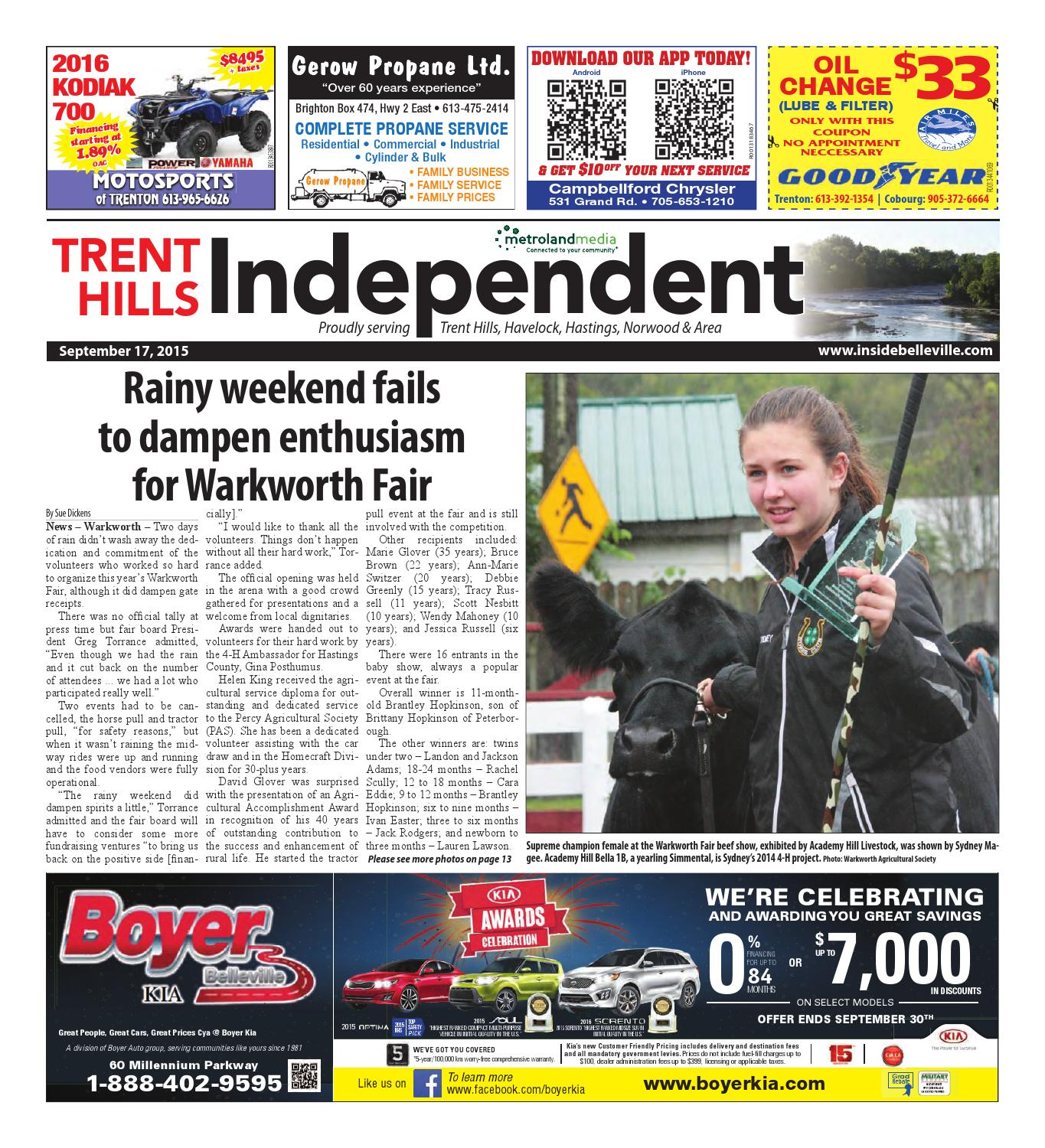 Trenthills091715 By Metroland East Trent Hills Independent Issuu