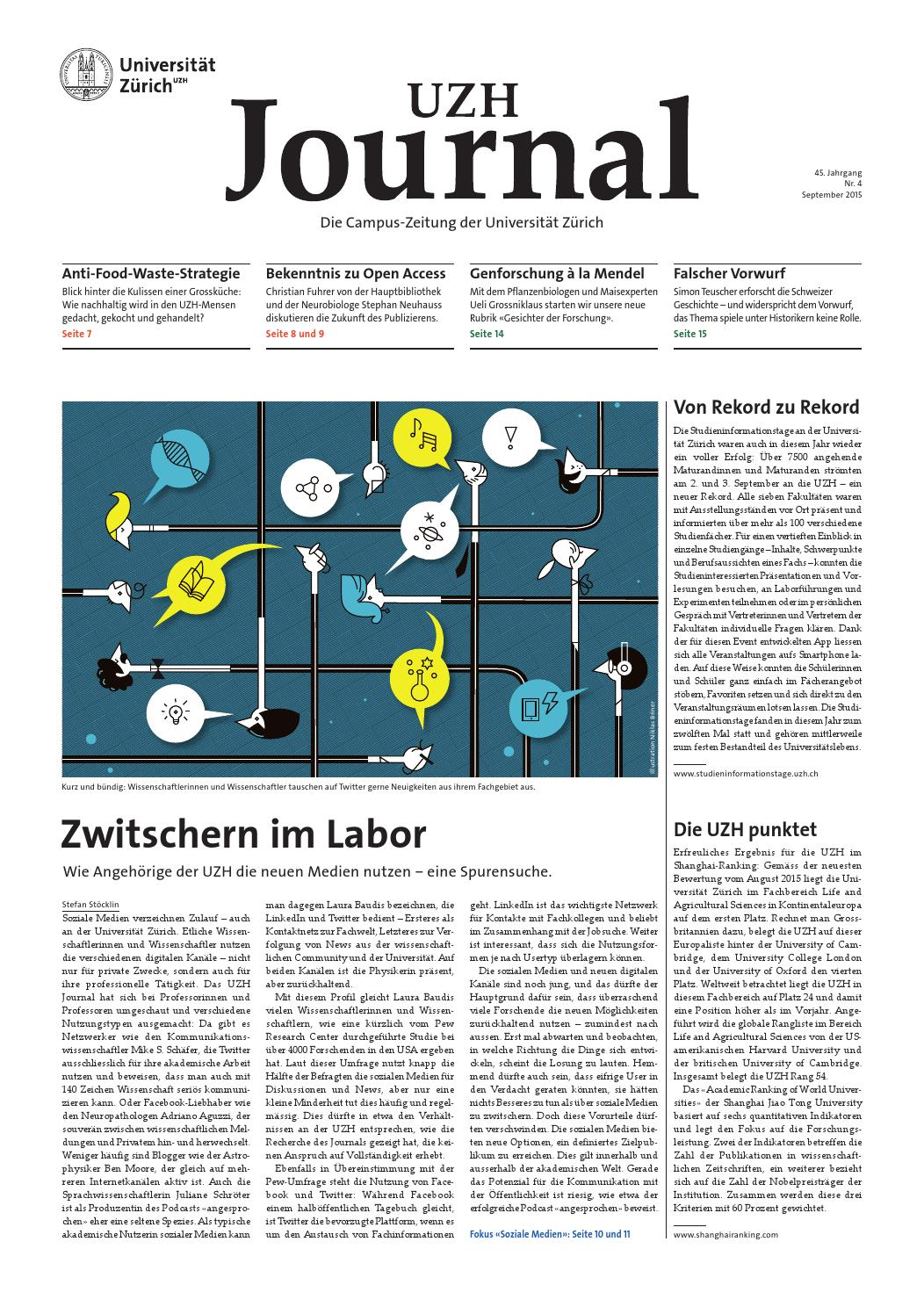 UZH Journal 4/15 by University of Zurich - issuu