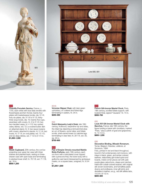 European Furniture & Decorative Arts | Skinner Auction 2850B by