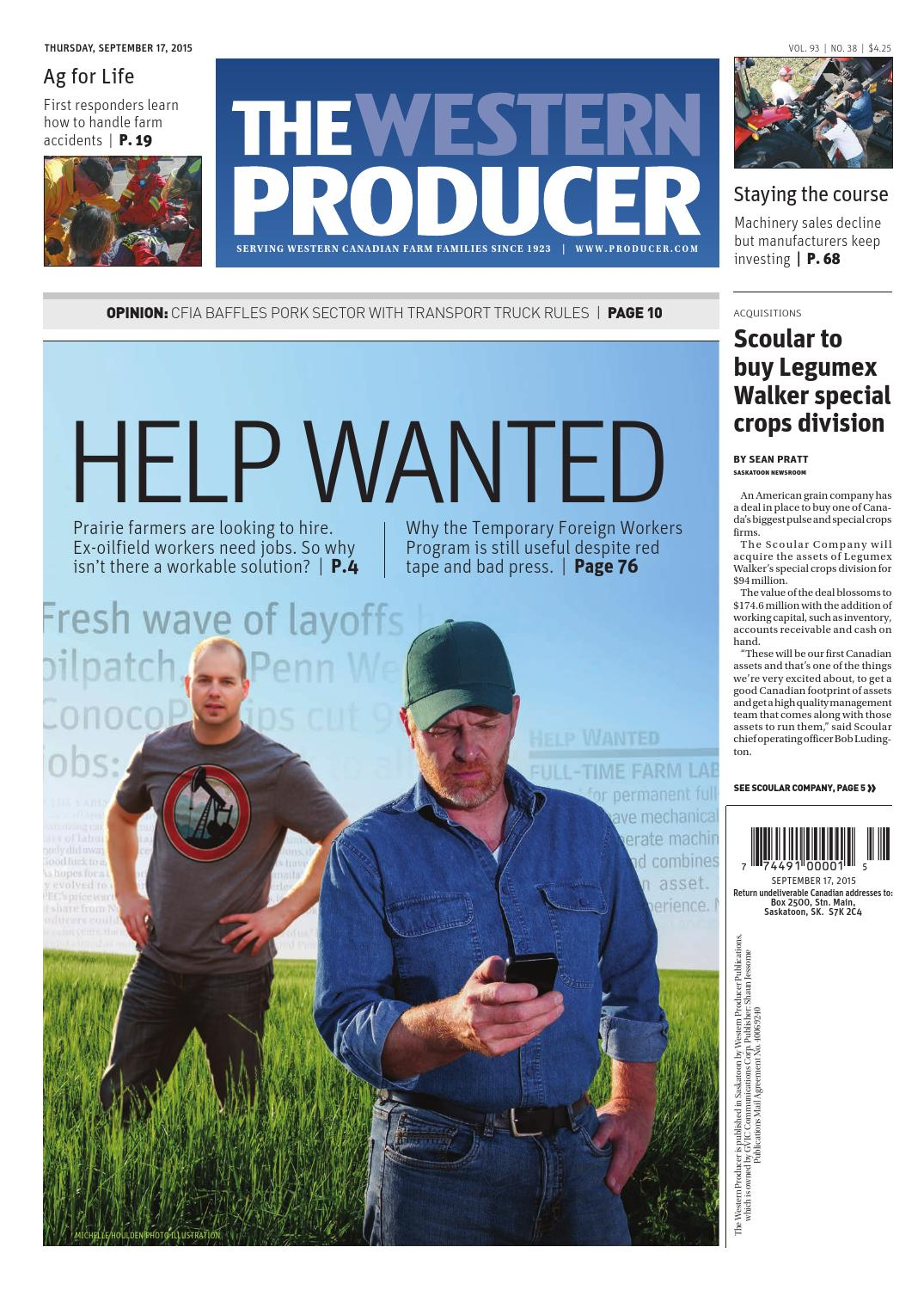 17a82874 The western producer september 17, 2015 by The Western Producer - issuu