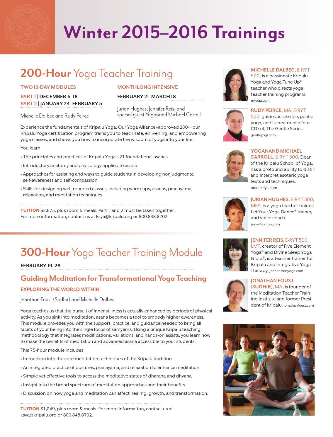 Winter 2015 2016 Catalog 101 By Kripalu Center For Yoga Health Issuu