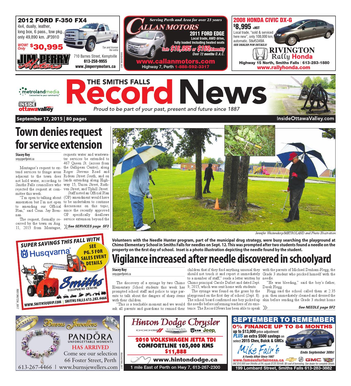 8e285ab1de4 Smithsfalls091715 by Metroland East - Smiths Falls Record News - issuu