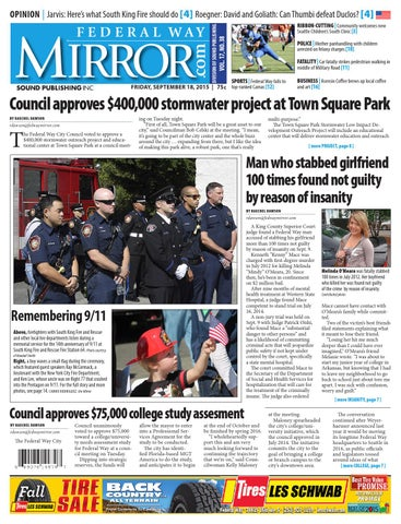Federal Way Mirror, September 18, 2015 by Sound Publishing