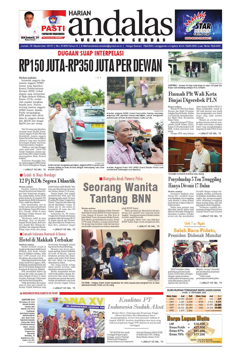 Epaper andalas edisi jumat 18 september 2015 by media andalas - issuu e02d3bc95d