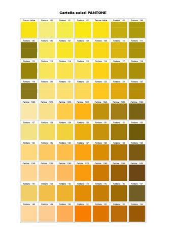 Cartella Colori PANTONE Process Yellow