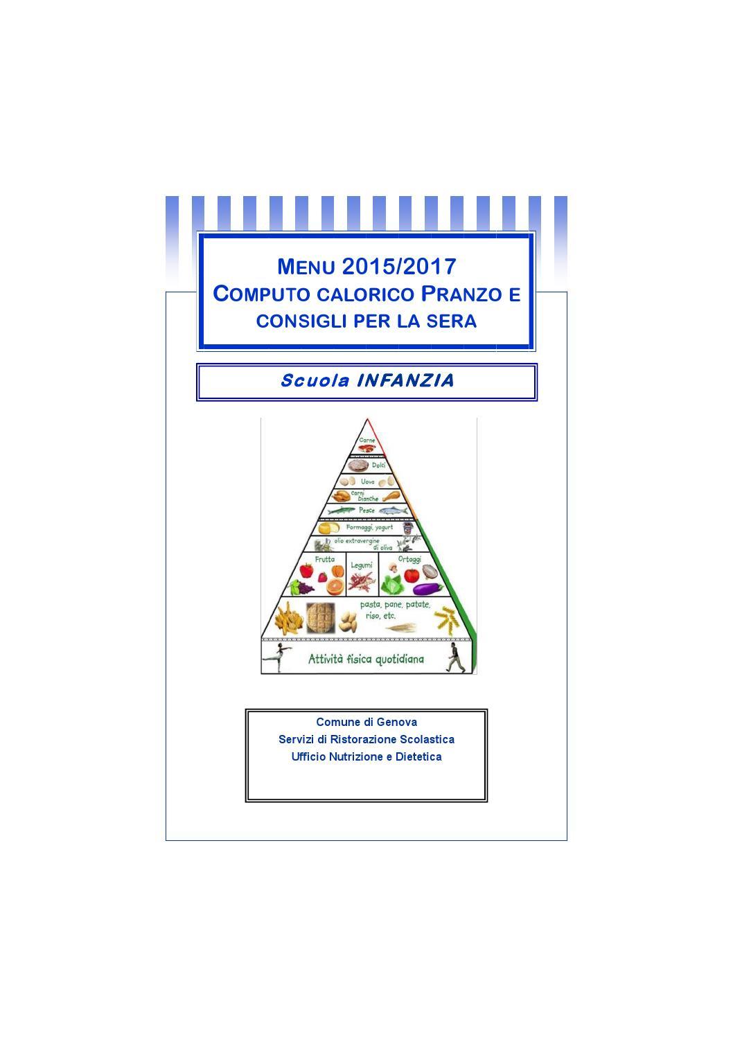 Computo calorico e consigli infanzia by comune di genova - Consigli per pranzo ...