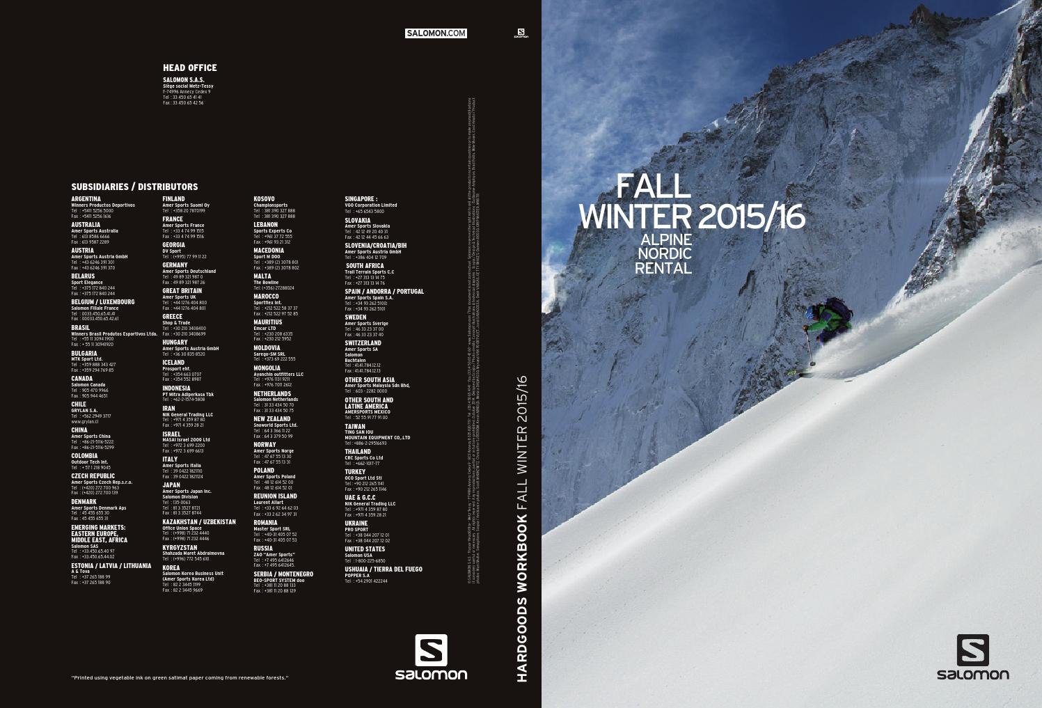 Salomon Catalog 2016 hardgoods by snowsport snowsport issuu