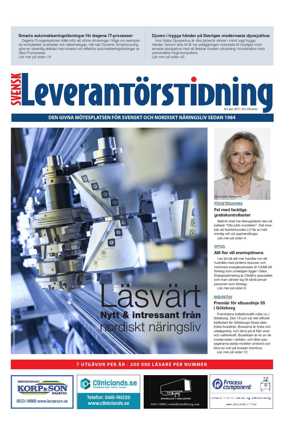 Svensk Leverantörstidning nr-5 2015 by Hexanova Media Group AB - issuu d97f4aa09a947