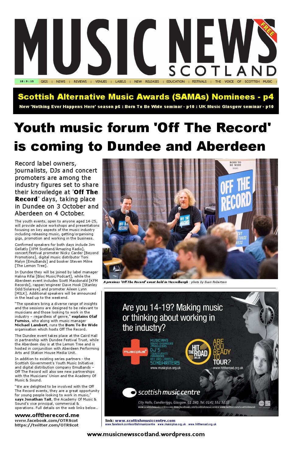 MUSIC NEWS Scotland by MUSIC NEWS Scotland - issuu